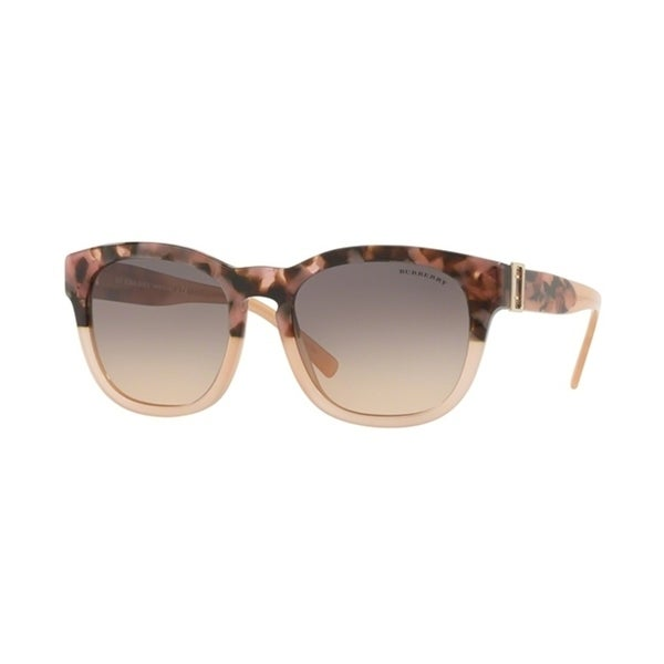 395bb96b90e1 Shop Burberry Square BE4258 WoMens BROWN HAVANA PINK Frame LIGHT BROWN  GRADIENT GREY Lens Sunglasses - Free Shipping Today - Overstock.com -  24257380