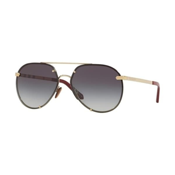56a0245a6a2 Shop Burberry Pilot BE3099 WoMens LIGHT GOLD Frame GREY GRADIENT Lens  Sunglasses - Free Shipping Today - Overstock - 24257384
