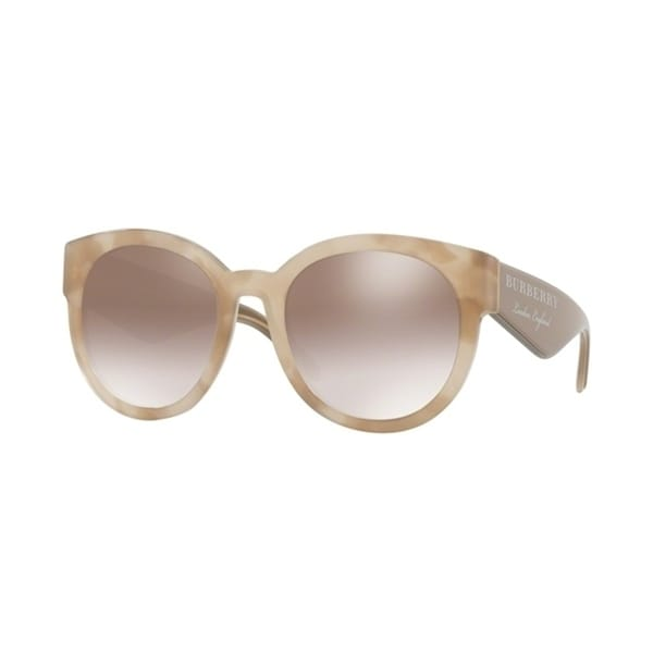 3d32a21ab Shop Burberry Round BE4260 WoMens BEIGE HAVANA Frame GRADIENT BROWN MIRROR  SILVER Lens Sunglasses - Free Shipping Today - Overstock - 24257393