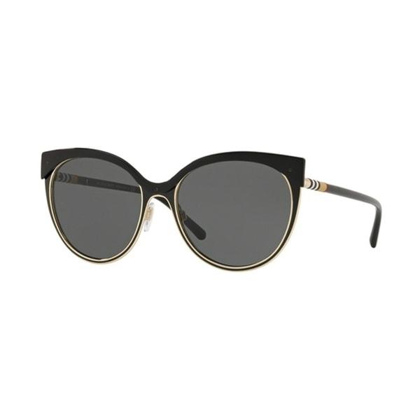 054e39052096 Shop Burberry Cat Eye BE3096 WoMens BLACK/LIGHT GOLD Frame GREY Lens  Sunglasses - Free Shipping Today - Overstock - 24257394