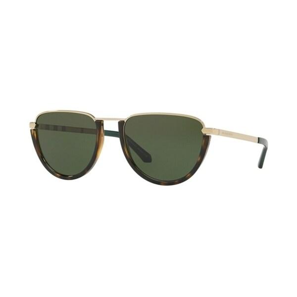 7f5ace72d8ba Shop Burberry Pilot BE3098 WoMens LIGHT GOLD DARK HAVANA Frame GREEN Lens  Sunglasses - Free Shipping Today - Overstock - 24257396