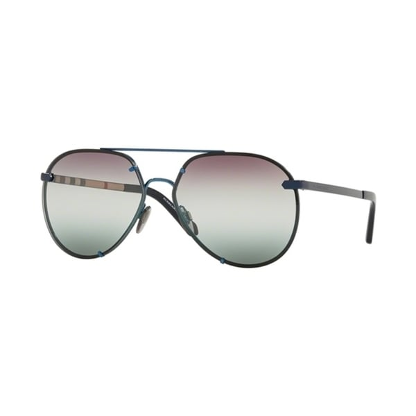 4826c50854ba8 Shop Burberry Pilot BE3099 WoMens BLUE Frame GRADIENT GREEN GRADIENT VIOLET Lens  Sunglasses - Free Shipping Today - Overstock - 24257405