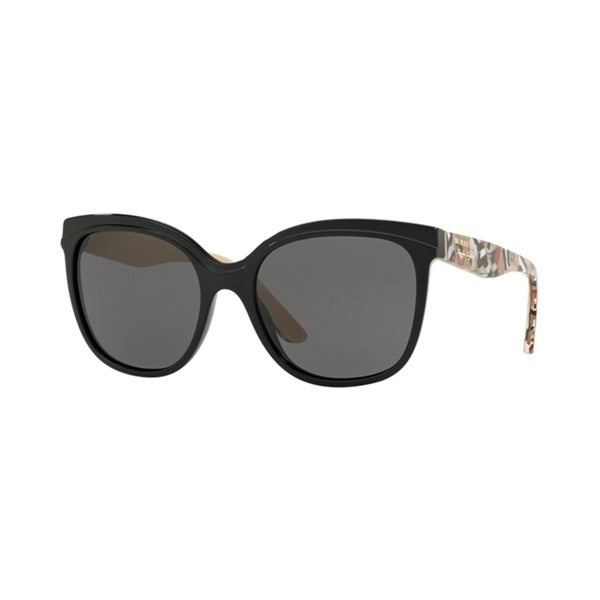e5162a2bbfac Shop Burberry Butterfly BE4270 WoMens BLACK Frame GREY Lens Sunglasses -  Free Shipping Today - Overstock - 24257416