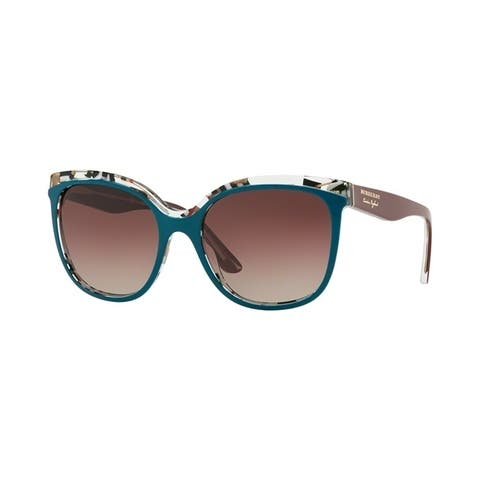 884a26487e58 Burberry Butterfly BE4270 WoMens TOP GREEN ON CHECK Frame BROWN GRAD VIOLET  GRAD BLACK Lens Sunglasses