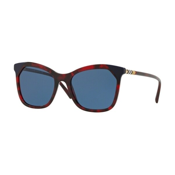 bcf0ce7c602b Shop Burberry Square BE4263F WoMens RED HAVANA/BLUE Frame BLUE Lens  Sunglasses - Free Shipping Today - Overstock - 24257458