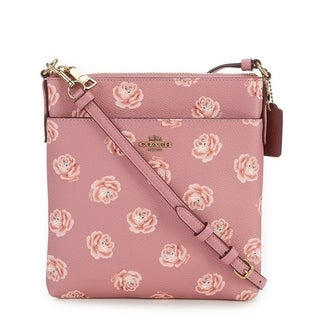 Coach Rose Print Messenger Cross-Body Bag