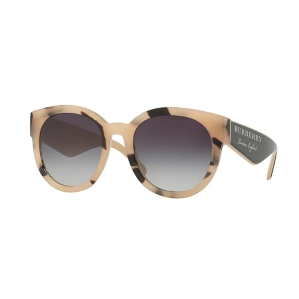 e3276d006 Shop Burberry Round BE4260 WoMens LIGHT HORN Frame GREY GRADIENT Lens  Sunglasses - Free Shipping Today - Overstock - 24257530