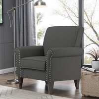 Copper Grove Herve Brick Red Velvet Arm Chair Deals