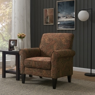 Link to Copper Grove Herve Paisley Arm Chair Similar Items in Living Room Chairs