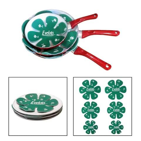 Evelots Pot/Pan Scratch Protector-Soft Felt-Ceramic/Glass/Cookware-3 Sizes-S/6