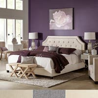 Hayley Button Tufted Arched Bridge Upholstered Standard Bed by iNSPIRE Q Bold