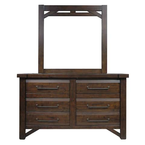 Tacoma Rustic 6-Drawer Dresser and Mirror by Greyson Living