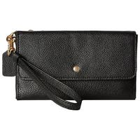 COACH Triple Small Wristlet in Polished Pebble Leather