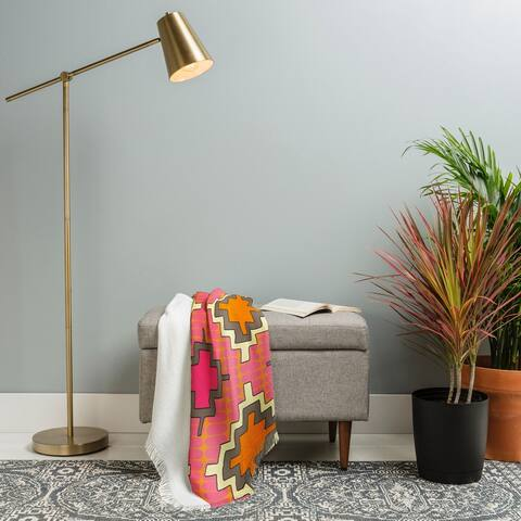 Deny Designs Tangerine Kilim Woven Throw Blanket (50 in x 60 in)