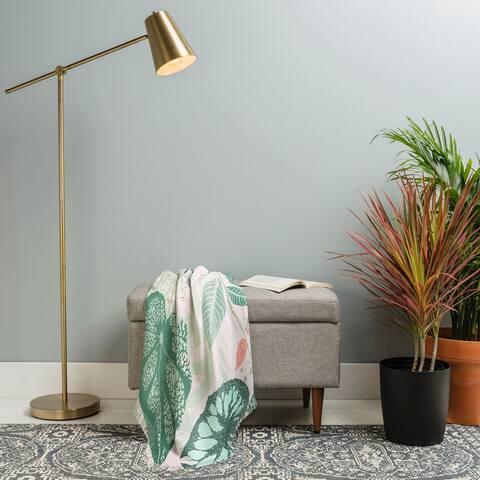 Deny Designs Alocasia Garden Woven Throw Blanket (50 in x 60 in)