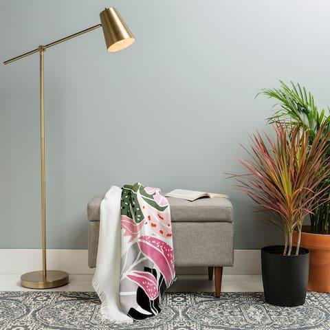 Deny Designs Tropical Leaf Throw Blanket (50 in x 60 in)