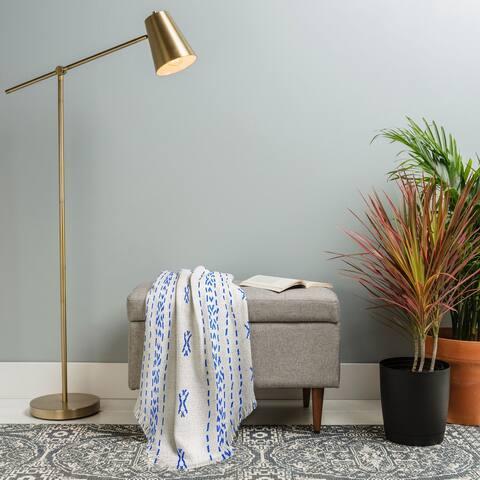 Deny Designs Boho Stripe Woven Throw Blanket (50 in x 60 in)