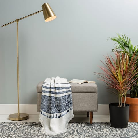 Deny Designs Chambray Stripe Woven Throw Blanket (50 in x 60 in)