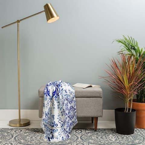 Deny Designs Woven Vintage Tile Throw Blanket (50 in x 60 in)