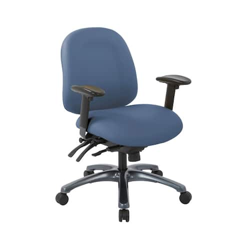 Pro-Line II Multi-Function Mid Back Chair with Seat Slider and Titanium Finish Base