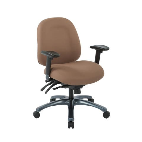 Multi-Function Mid-Office Chair with Seat Slider and Titanium Finish Base