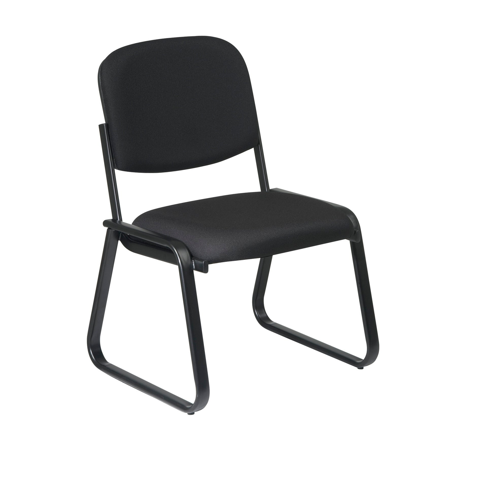 Work Smart Deluxe Sled Base Armless Chair With Designer