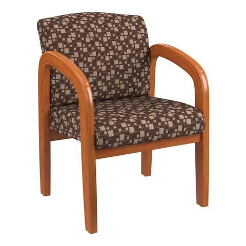 Work Smart Medium Oak Finish Wood Visitor Chair