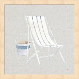 James Wiens 'Serene Seaside III Tan' Framed Art