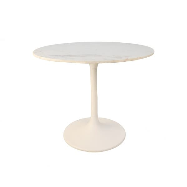 Givseppe 36 Inch Round Marble Top Dining Table Overstock 24258909
