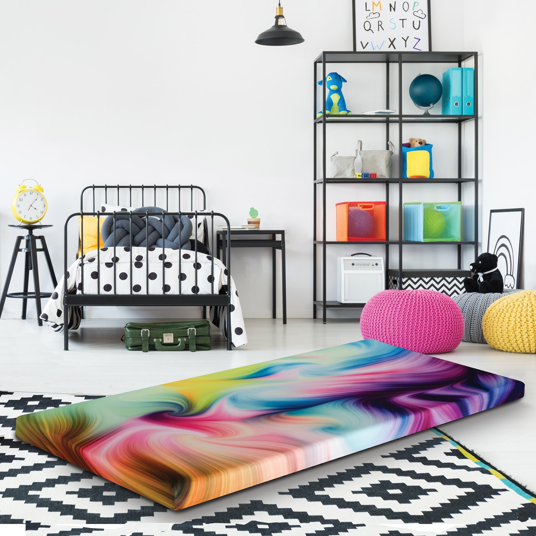 Tie Dye Roll Up Memory Foam Guest Bed