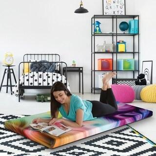 Groove Twin Size Tie Dye Roll Up Memory Foam Guest Bed Mattress
