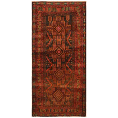 Handmade One-of-a-Kind Balouchi Wool Runner (Afghanistan) - 2'8 x 6'
