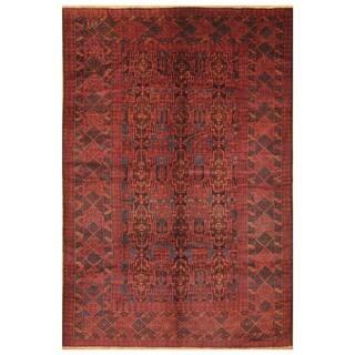 Handmade Herat Oriental Afghan Hand-knotted Tribal Balouchi Wool Rug (7'2 x 10'7) - 7'2 x 10'7