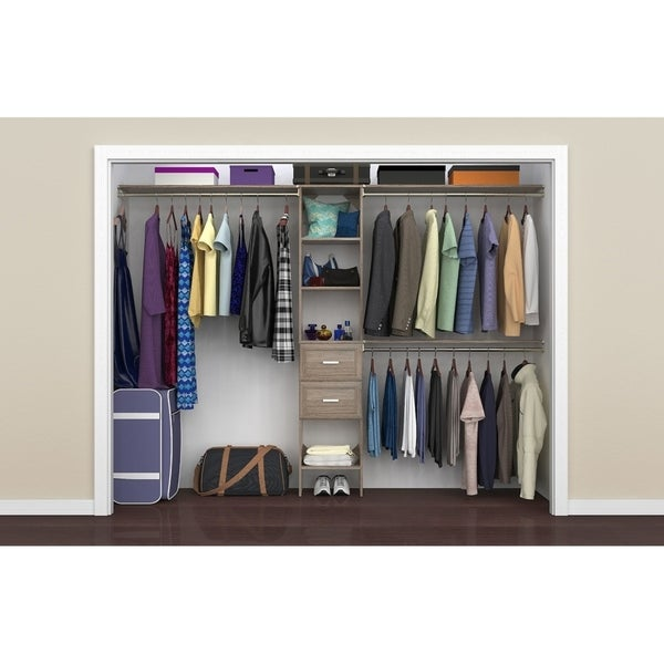 ClosetMaid SuiteSymphony 16 in. Closet Organizer with Shelves and 2 Drawers