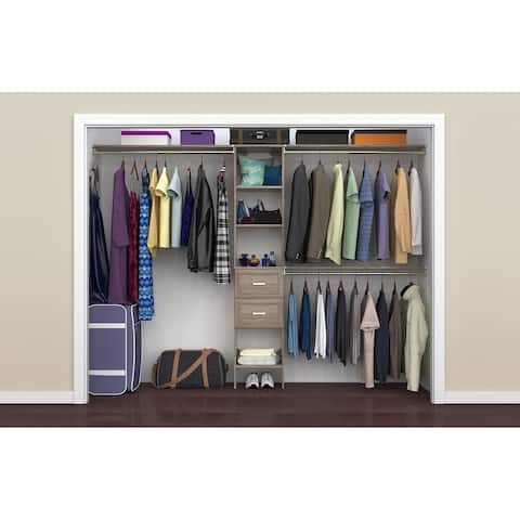 """ClosetMaid SuiteSymphony 16 in. Closet Organizer with Shelves and 2 Drawers - 16"""" wide"""