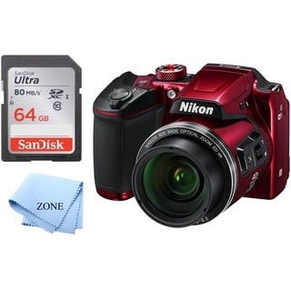 Nikon COOLPIX B500 16MP Digital Camera with 3 Inch TFT LCD Screen Nikkor Lens with 40x Optical Zoom WiFi + 64GB Memory Card