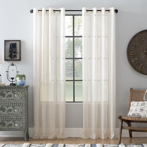 Archaeo Slub Textured Linen Blend Grommet Top Curtain