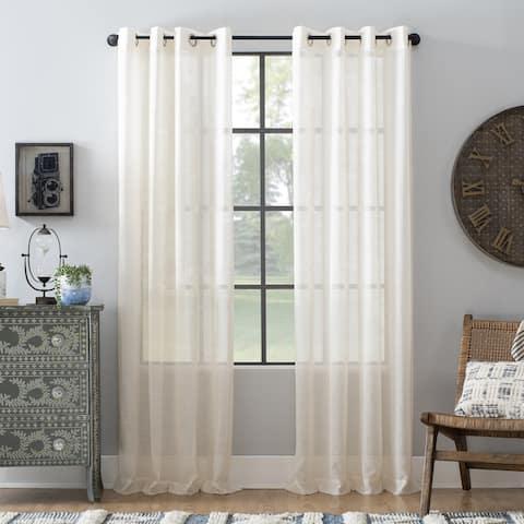 Archaeo Slub Textured Linen Blend Grommet Top Curtain