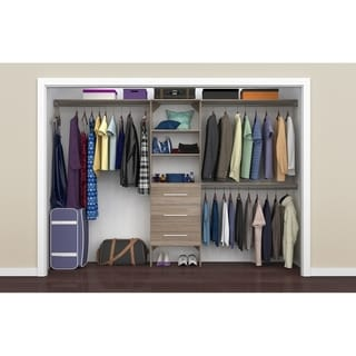 ClosetMaid SuiteSymphony Modern 25 in. Closet Organizer with Shelves and 3 Drawers