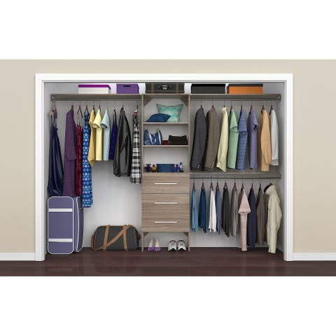 "ClosetMaid SuiteSymphony Modern 25 in. Closet Organizer with Shelves and 3 Drawers - 25"" wide"
