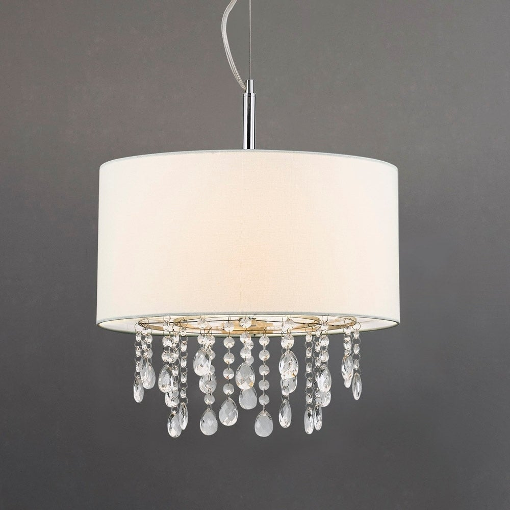 16 5 ø 3 Light Crystal Pendant Lamp
