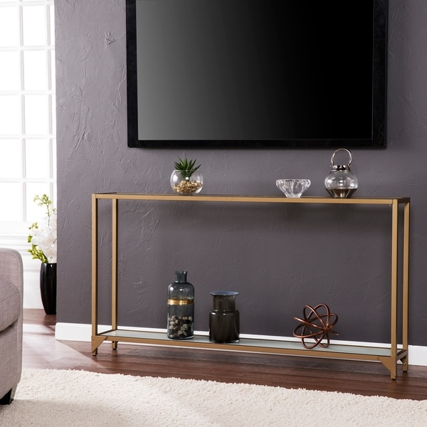 Shop Silver Orchid Grant Narrow Metal Console Table As Is