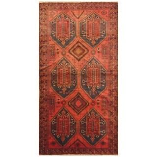 Handmade Herat Oriental Afghan Hand-knotted Tribal Balouchi Wool Rug (5'6 x 10'9)