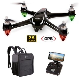 Contixo F18 RC Remote & App Controlled Quadcopter Drone - 1080p WiFi Camera Plus Backpack Storage Drone Case