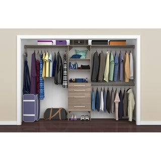 ClosetMaid SuiteSymphony Modern 25 in. Closet Organizer with Shelves and 4 Drawers