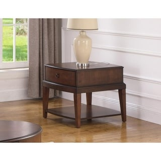 Best Master Furniture Walnut Square End Table