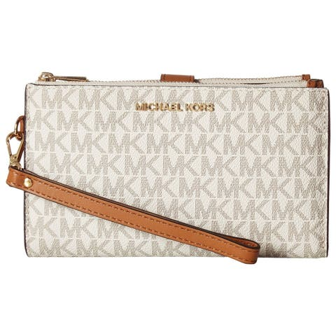 18c59b81bb18 MICHAEL Michael Kors Signature Adele Double Zip iPhone 7 Plus Wristlet  Vanilla