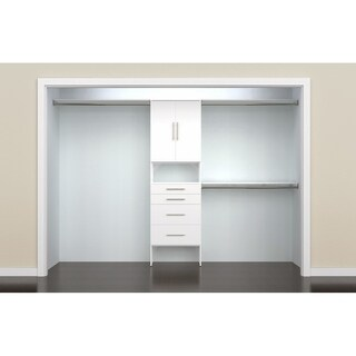 ClosetMaid SuiteSymphony Modern 25 in. Closet Organizer with Shelves, 4 Drawers and 2 Doors