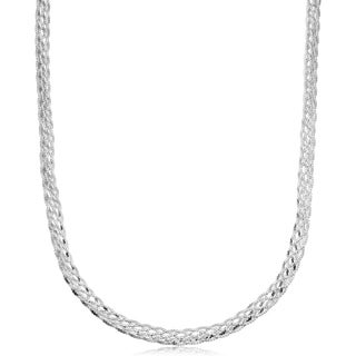 Sterling Silver 5.1 millimeters Braided Serpentine Necklace (16 or 18 inches)