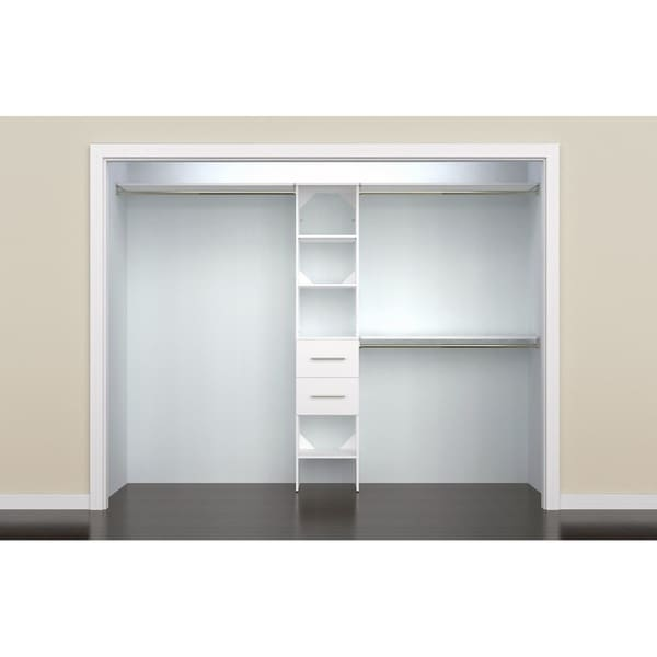 ClosetMaid SuiteSymphony Modern 16 in. Closet Organizer with Shelves and 2 Drawers